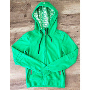 Lululemon Womens Bliss Break Hoodie Green Jacket 6